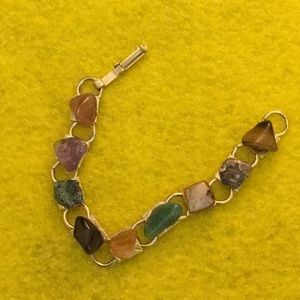 Jewelry - 6 inch Gold Assorted Color Jasper